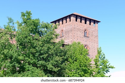 Castello Visconteo or Visconti castle in Pavia, Italy