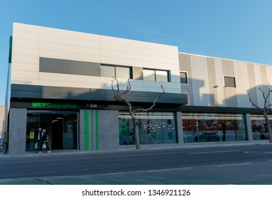 CASTELLON, SPAIN - MARCH 2019: New image of the Mercadona stores, the main Spanish supermarket chain.