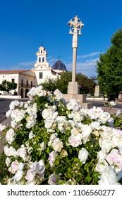 "CASTELLON, SPAIN - OCTOBER 2017: Basilica of Our Lady of the ""Lledo"" of Castellón de la Plana"
