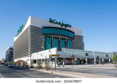 CASTELLON,SPAIN-JANUARY 30,2018: El Corte Ingles building, department store. Castellon.