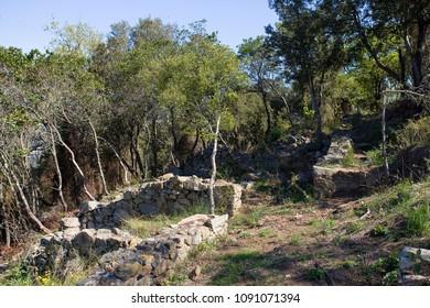 Castellruf Iberian town in Martorelles, Spain. 600 BC to 200 BC.
