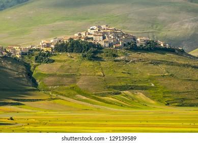 Castelluccio di Norcia (Perugia, Umbria, Italy) - Landscape in the Monti Sibillini Park at summer