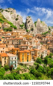 Castelmezzano village in Basilicata region of Italy