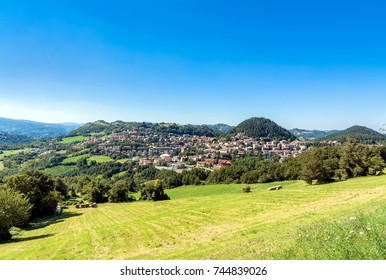 Castelnovo ne Monti countryside and town in Emilia Apennines, Italy