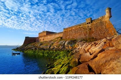 Castelo de San Anton in La Coruna of Galicia Spain