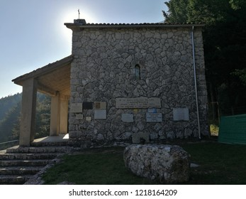 Castelpetroso - Apparition Chapel on the hill overlooking the Sanctuary of Our Lady of Sorrows