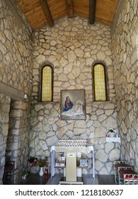 Castelpetroso, Isernia, Molise, Italy - October 14, 2018: Interior of the Apparition Chapel