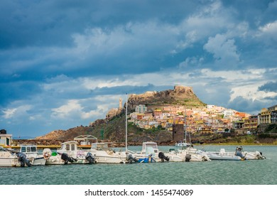 Castelsardo, located in the northwest of Sardinia within the Province of Sassari, at the east end of the Gulf of Asinara in Italy.