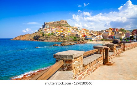 Castelsardo town and comune in Sardinia, Province of Sassari, Italy. Beaches and villas in Sardinia.