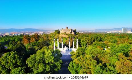 Castillo de Chapultepec Aerial Shot