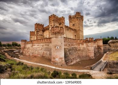 Castillo de la Mota - famous old castle in Medina del Campo, Valladolid (Castilla y Leon), Spain