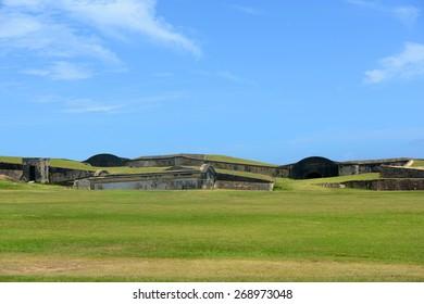 Castillo de San Cristobal, San Juan, Puerto Rico. Castillo de San Cristobal is designated as UNESCO World Heritage Site since 1983.