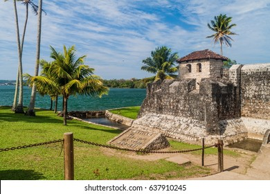 Castillo de San Felipe, Spanish colonial fort at the entrance to Lake Izabal in eastern Guatemala
