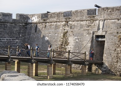 Castillo de San Marcos [Castle of St. Mark] in St. Augustine, Florida, USA.