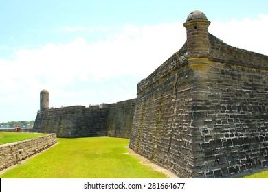 Castillo de San Marcos in St. Augustine, Florida. ancient fort