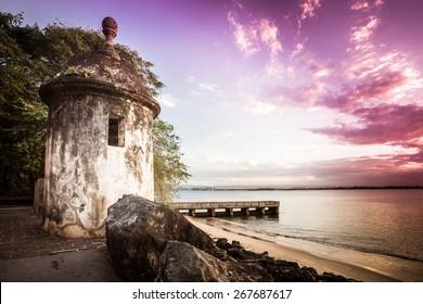 Castillo del Morro Old San Juan Puerto Rico at sunset