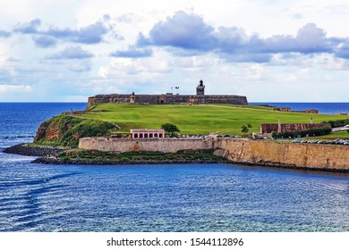 Castillo San Felipe del Morro when heading to port in San Juan, Peurto Rico.