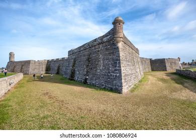 Castillo San Marcos, St Augustine, Florida.