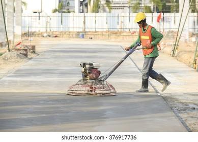 Casting Concrete Work, polishing surface concrete pavement work