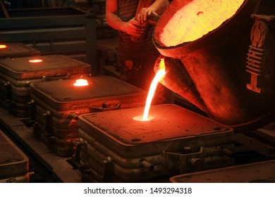Casting, melting, molding and foundry. The most widely used non reusable mold method is sand casting a process in which specially treated sand is rammed around the pattern and placed in a support.
