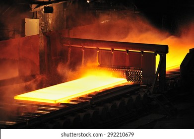 casting, the part of steel production at steel mill