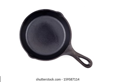 Cast-iron frying pan skillet