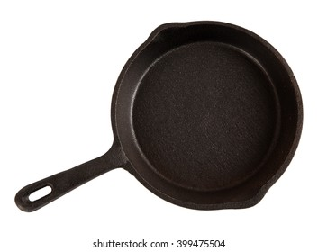 Cast-iron pan isolated