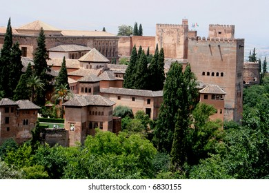 The castle in Alhambra, Spain
