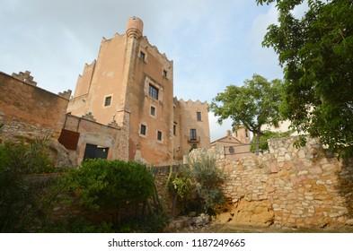 Castle of Altafulla village at Tarragona province - Catalonia - Spain