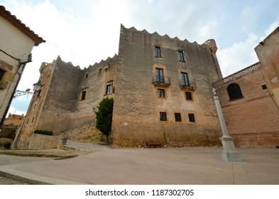 Castle of Altafulla village at Tarragona province - Catalonia . Spain