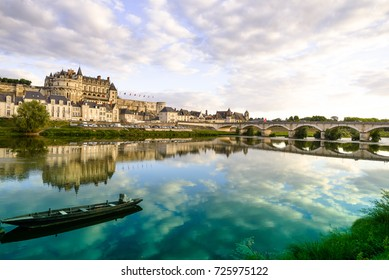 Castle Amboise in the summer with some clouds