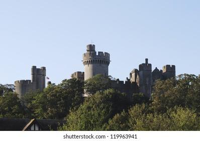 Castle at Arundel. West Sussex. England