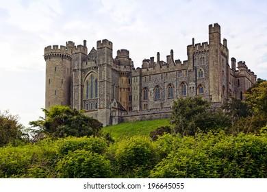 The castle of Arundel, West Sussex, UK