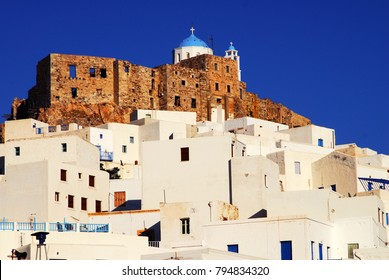 The castle of Astypalaia, Astypalaia island, Dodecanese islands, Greece