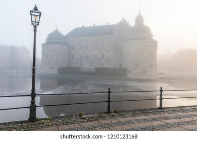 Castle background in the fog