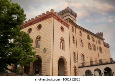 The castle of Barolo, town in the Langhe of Piedmont famous for its red wine