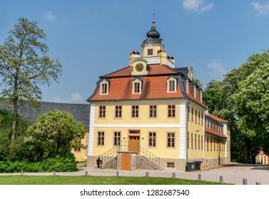 Castle Belvedere in Weimar in summer