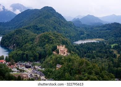 Castle beside the lake