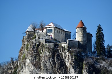 The castle in Bled, Slovenia