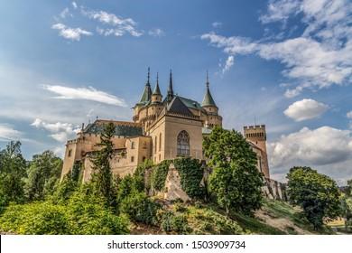 Castle Bojnice, central Europe, Slovakia. UNESCO.