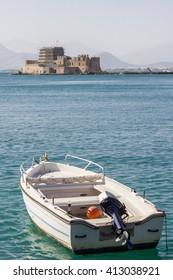 Castle of Bourtzi in Nafplio, Greece