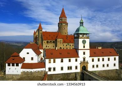 Castle Bouzov, Moravia region in Czech republic, Europe