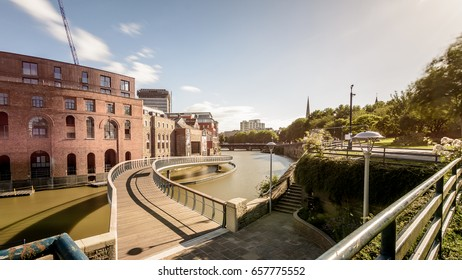 Castle Bridge D Bristol England, new bridge between Castle Park and Finzels Reach, opened in 2017