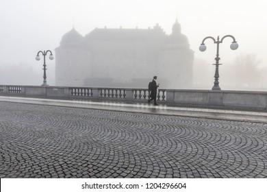 Castle bridge fog