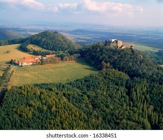 Castle Buchlov in the Moravia landscape