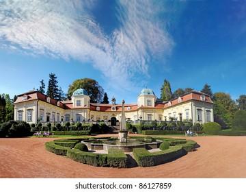 Castle Buchlovice in Czech republic.