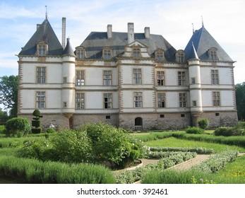 Castle in Burgundy, France.