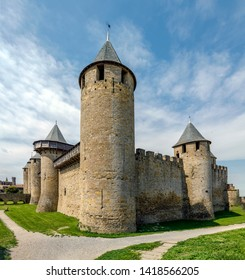 Castle of Carcassonne, France. Europe. Input from the Cite