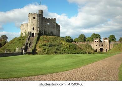 Castle in Cardiff. Wales.