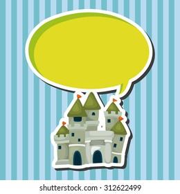 castle, cartoon speech icon